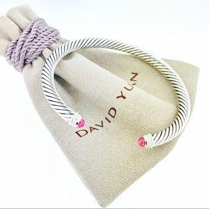 David Yurman 5mm Tourmaline Diamond Cable Bracelet
